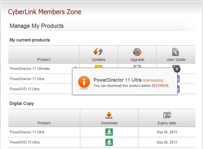 カスタマーサポート cyberlink application manager の取得方法