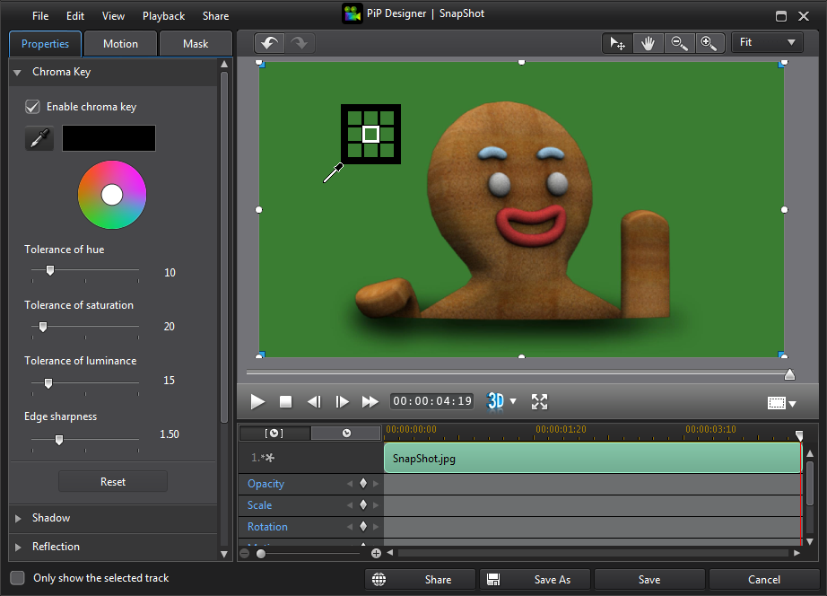 customer support how do i use the chroma key feature to replace a