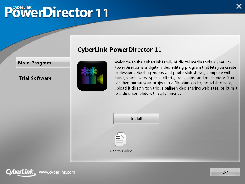 e installa cyberlink powercinema