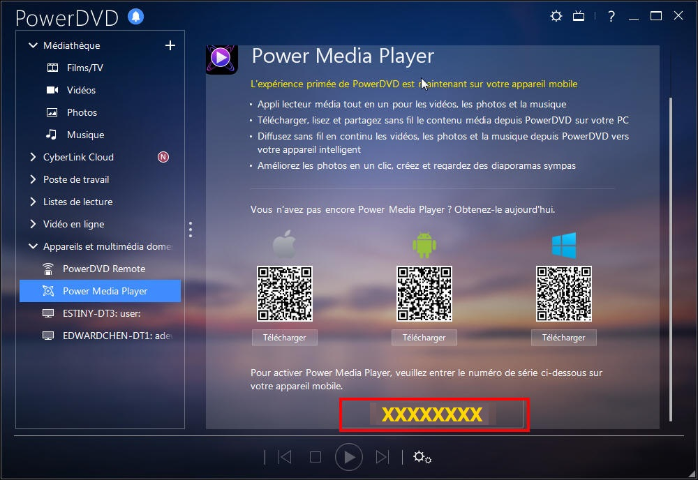 Activer Power Media Player